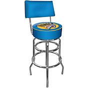 Trademark Games Oklahoma City Thunder Padded Swivel Bar Stool with Back
