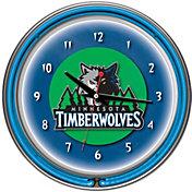 Trademark Games Minnesota Timberwolves 14'' Neon Clock