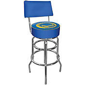 Trademark Games Golden State Warriors Padded Swivel Bar Stool with Back
