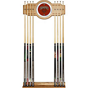 Trademark Games Brown Bears 2-Piece Wood and Mirror Wall Cue Rack