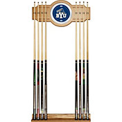 Trademark Games BYU Cougars 2-Piece Wood and Mirror Wall Cue Rack