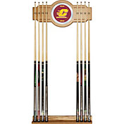 Trademark Games Central Michigan Chippewas 2-Piece Wood and Mirror Wall Cue Rack