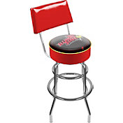 Trademark Games Illinois State Redbirds Padded Swivel Bar Stool with Back
