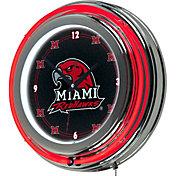 Trademark Games Miami Redhawks 14'' Neon Clock