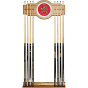Trademark Games Maryland Terrapins 2-Piece Wood and Mirror Wall Cue Rack