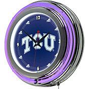 Trademark Games TCU Horned Frogs 14'' Neon Clock
