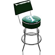 Trademark Games Tulane Green Wave Padded Swivel Bar Stool with Back