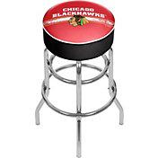 Trademark Games Chicago Blackhawks Padded Bar Stool