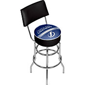 Trademark Games Tampa Bay Lightning Padded Swivel Bar Stool with Back