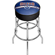 Trademark Games Edmonton Oilers Padded Bar Stool