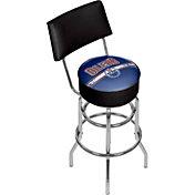 Trademark Games Edmonton Oilers Padded Swivel Bar Stool with Back