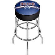 Trademark Games Edmonton Oilers Padded Bar Stool