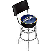 Trademark Games Nashville Predators Padded Swivel Bar Stool with Back