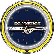 Trademark Games Nashville Predators 14'' Neon Clock