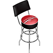 Trademark Games Detroit Red Wings Padded Swivel Bar Stool with Back