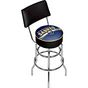 Trademark Games Buffalo Sabres Padded Swivel Bar Stool with Back