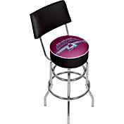 Trademark Games Colorado Avalanche Padded Swivel Bar Stool with Back