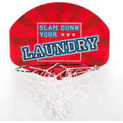 Trademark Games Over the Door Dunk Your Laundry Hamper Basketball Hoop
