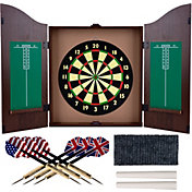 Trademark Games Walnut Dartboard Cabinet Set