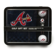 Team Golf Atlanta Braves Embroidered Towel Tin Set