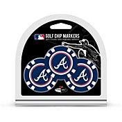 Team Golf Atlanta Braves Poker Chips Ball Markers - 3-Pack