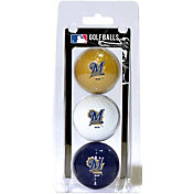 Team Golf Milwaukee Brewers Golf Balls - 3-Pack
