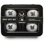 Team Golf Milwaukee Brewers 4-Ball Tin Set