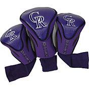 Team Golf Colorado Rockies Contoured Headcovers - 3-Pack