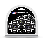 Team Golf Colorado Rockies Poker Chips Ball Markers - 3-Pack