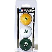 Team Golf Oakland Athletics Golf Balls - 3-Pack