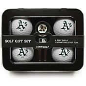 Team Golf Oakland Athletics 4-Ball Tin Set