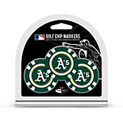 Team Golf Oakland Athletics Poker Chips Ball Markers - 3-Pack
