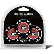 Team Golf Georgia Bulldogs Poker Chips Ball Markers - 3-Pack