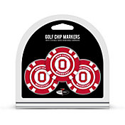 Team Golf Ohio State Buckeyes Poker Chips Ball Markers - 3-Pack