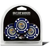 Team Golf Kansas Jayhawks Poker Chips Ball Markers - 3-Pack
