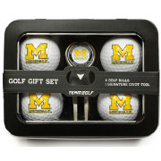 Team Golf Michigan Wolverines 4-Ball Tin Set