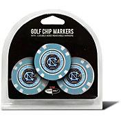 Team Golf North Carolina Tar Heels Poker Chips Ball Markers - 3-Pack