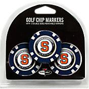 Team Golf Syracuse Orange Poker Chips Ball Markers - 3-Pack