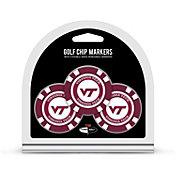 Team Golf Virginia Tech Hokies Poker Chips Ball Markers - 3-Pack