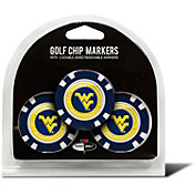 Team Golf WVU Mountaineers Poker Chips Ball Markers - 3-Pack