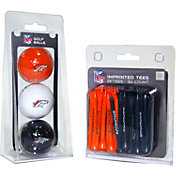 Team Golf Denver Broncos 3 Ball/50 Tee Combo Gift Pack
