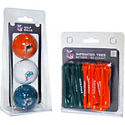 Team Golf Miami Dolphins 3 Ball/50 Tee Combo Gift Pack