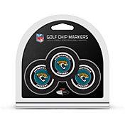 Team Golf Jacksonville Jaguars Poker Chips Ball Markers - 3-Pack