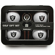 Team Golf Oakland Raiders 4-Ball Tin Set