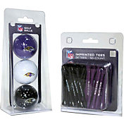 Team Golf Baltimore Ravens 3 Ball/50 Tee Combo Gift Pack