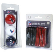 Team Golf Houston Texans 3 Ball/50 Tee Combo Gift Pack