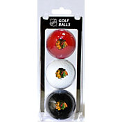 Team Golf Chicago Blackhawks Three Pack Golf Ball Set