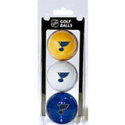 Team Golf St. Louis Blues Three Pack Golf Ball Set
