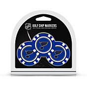 Team Golf St. Louis Blues Poker Chips Ball Markers - 3-Pack