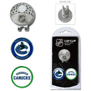 Team Golf Vancouver Canucks Cap Clip And Marker Set
